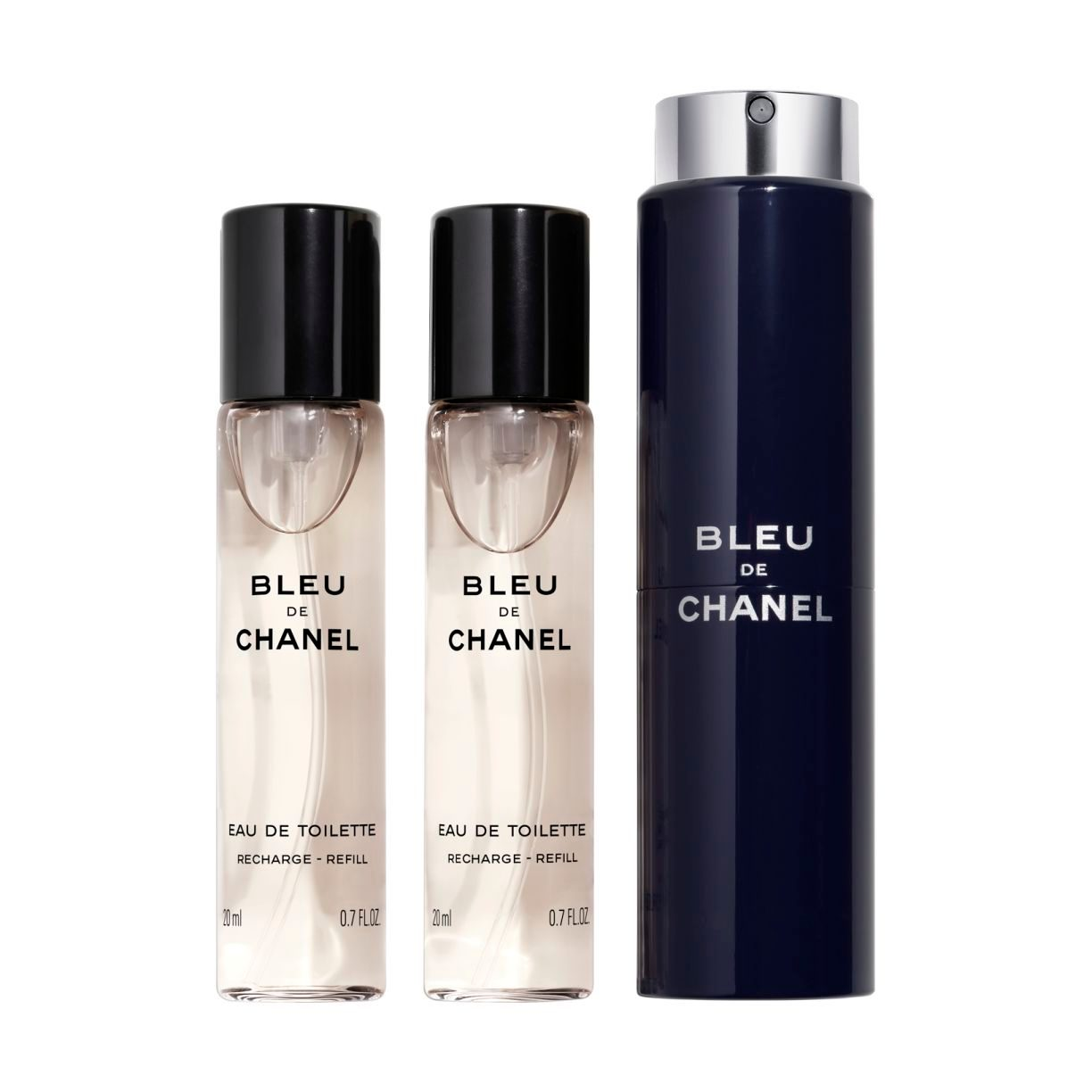 BLEU DE CHANEL EAU DE TOILETTE REFILLABLE TRAVEL SPRAY